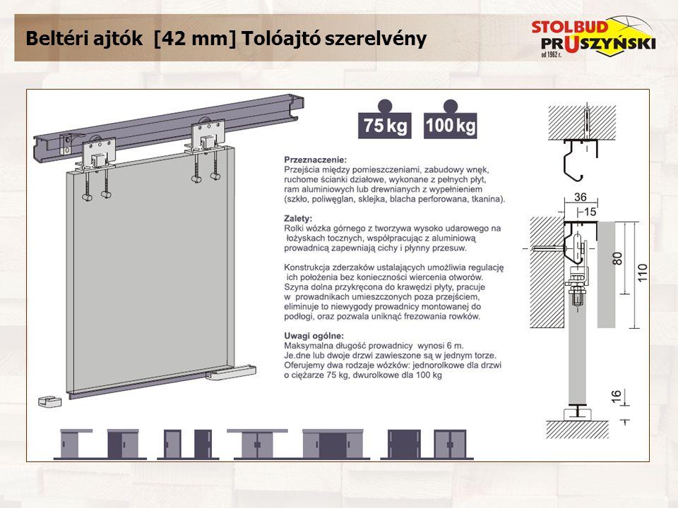 Beltéri ajtók [42 mm] Tolóajtó szerelvény